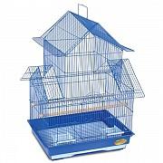 """Клетка для птиц """"Triol"""" с многоуровневой крышей (эмаль), 47,5x36x68 см"""