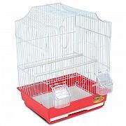 """Клетка для птиц """"Triol"""" с фигурной крышей (золото), 35x28x46 см"""