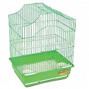 """Клетка для птиц """"Triol"""" с фигурной крышей (золото), 28x21x38 см"""