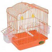 """Клетка для птиц """"Triol"""" с фигурной крышей (эмаль), 22,5x17x28 см"""