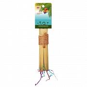 Жердочка бамбуковая для птиц, 19х3,8 см