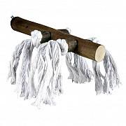 Жердочка Trixie деревянная (с веревкой), 20 см