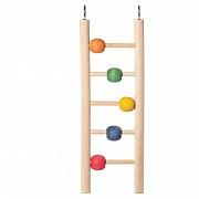 "Игрушка для птиц Triol ""Лестница с шариками"", 23,5x7 см"